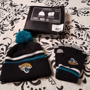 Jacksonville jaguars kids hat and gloves set